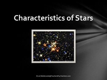 solar system characteristics of stars powerpoint presentation tpt. Black Bedroom Furniture Sets. Home Design Ideas