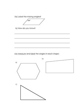 Classification of Triangles and Angles of Polygons