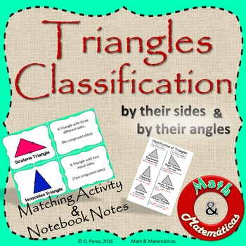 Classification of Triangles by Their Sides and Angles -Mat