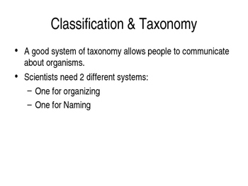 Classification of living things notes