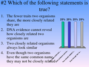 Classification of living things review questions