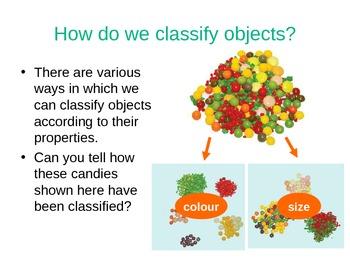 Classification of materials