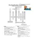Classification vocabulary Crossword