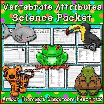 Vertebrates Attributes Science Packet