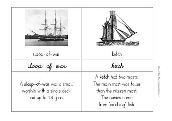 Classified Cards: Types of Sailing Ships