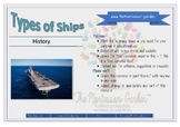 Classified Cards: Types of Ships