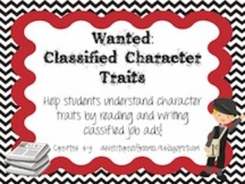 Character Trait Lesson