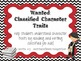 Classified: Character Traits (Common Core Aligned)