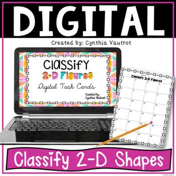 Classify 2-D Figures Digital Task Cards