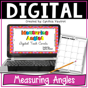 Measuring Angles Digital Task Cards for Google Classroom