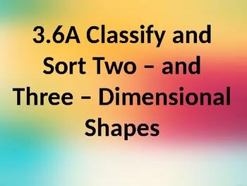 Classify 2D & 3D Shapes Math TEK 3.6A