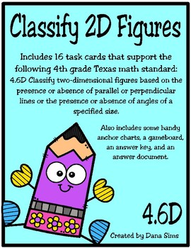 Classify 2D Figures (TEKS 4.6D) STAAR Practice