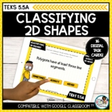 Classify 2D Shapes   Boom Cards Distance Learning