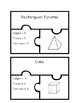 Classify 3D Shapes Task Card Puzzles