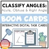 Classify Angles: Acute, Obtuse & Right Angle Boom Cards Di