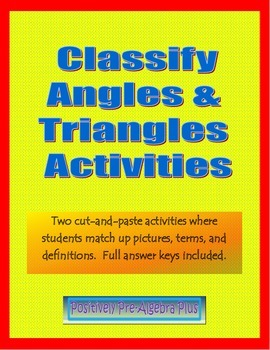 Classify Angles & Triangles