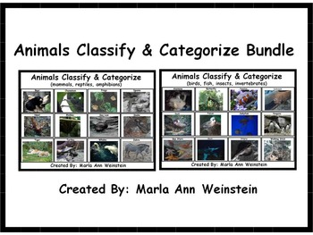 Animals Classify & Categorize Bundle