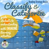 Classify & Categorize ~Reading Strategy~ Activity Pack
