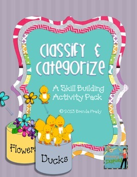 Classify & Categorize ~Reading Strategy~ Activity Pack SAMPLER