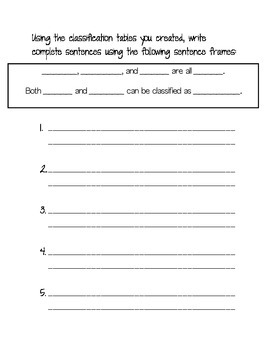 Classify / Categorize using Adjectives