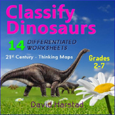 Science: Classify Dinosaurs w/ Thinking Maps (Worksheets &