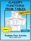 Classify Functions From Tables Problem Pass | Digital - Distance Learning