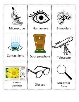 Classify Lenses: Convex and Concave GPS 4th Grade