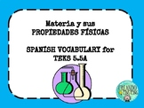 Classify Matter in SPANISH TEKS 5.5A  Vocabulary Review PPT