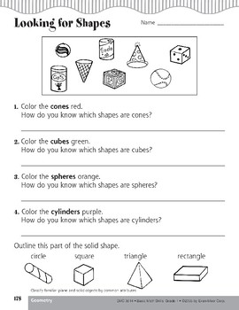 Classify Plane & Solid Objects by Common Attributes