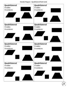Classify Polygons Flash Cards