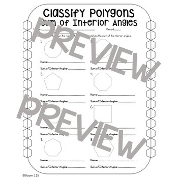 Classify Polygons Work Pages and Activities