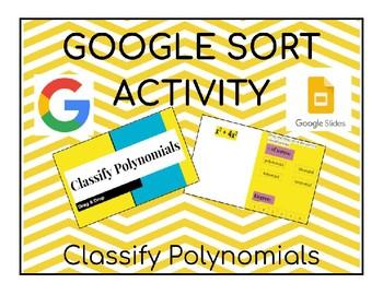 Classify Polynomials Google Slides Activity