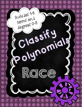 Classify Polynomials Race Game