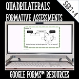 Classify Quadrilaterals Formative Assessments for Google F