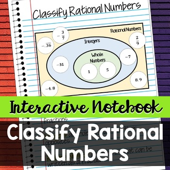 Interactive Notebook: Cut and Sort - Classify Rational Numbers