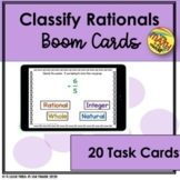 Classify Rational Numbers Boom Cards - Distance Learning
