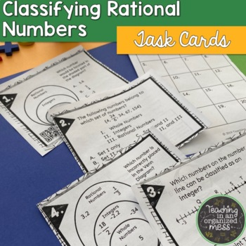 Classify Rational Numbers Task Cards
