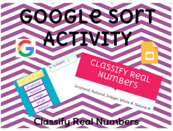 Classify Real Numbers Drag & Drop