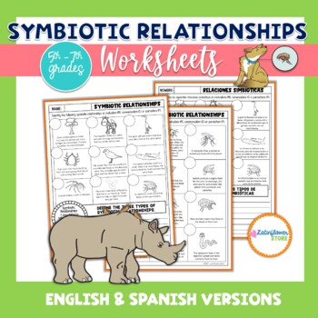 Symbiotic Relationships English and Spanish Versions