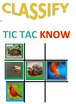 Classify Tic Tac KNOW