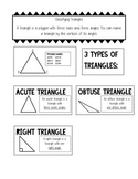 Acute, Right and Obtuse Triangle Journal Notes