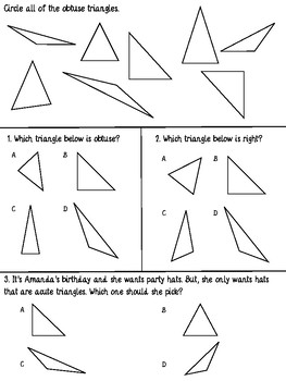 Classify Triangles: Angles