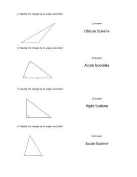 Classify Triangles Cooperative Learning - Quiz, Quiz, Trade