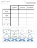 Classify Triangles Cut Out Activity