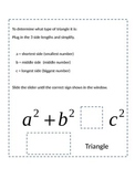 Classify Triangles Slider & Special Right Triangles Notebo