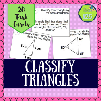 Classify Triangles Task Cards