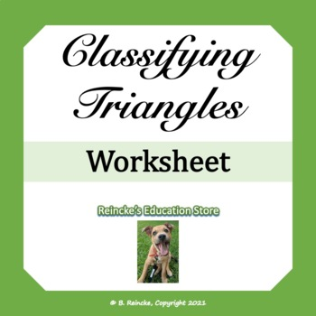 Classify Triangles Worksheet Classify Triangles Worksheet