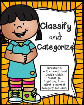 Classify and Categorize Literacy Center