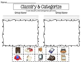 Classify And Categorize A Comprehension Skill Resource