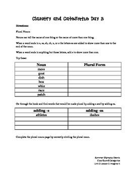 Classify and Categorize Imagine It Unit 2 Lesson 5
